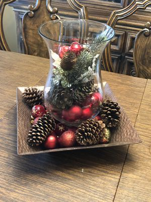Holiday centerpiece on tray for Sale in Katy, TX