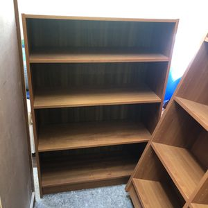Teak 48 inch tall bookcase for Sale in St. Louis, MO