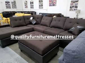Sectional sofa set with ottoman for Sale in San Jacinto, CA