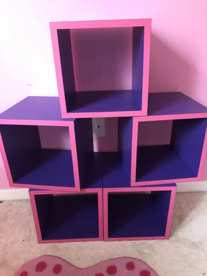 Cute Purple & Hot Pink Cubes! for Sale in Riverview, FL