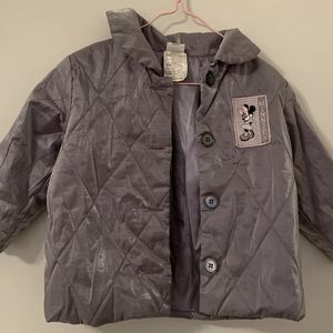 Disney Gray Silver Minnie Mouse Jacket Polyester Button Up 24 MOS 2 Years Girls for Sale in Centreville, VA