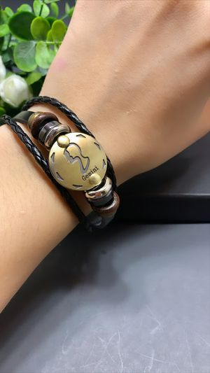 12 Constellations Multilayer Leather Bracelet, Gemini for Sale in Los Angeles, CA