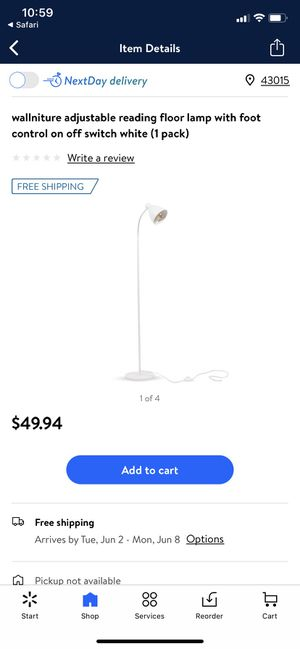 White floor lamp for Sale in Delaware, OH