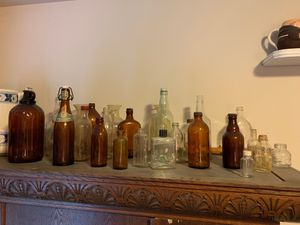 Glass bottle collection - 1940's for Sale in Bothell, WA