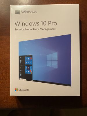 Microsoft Windows 10 Pro Box Pack (32/64-Bit, USBFlash Drive) for Sale in Issaquah, WA