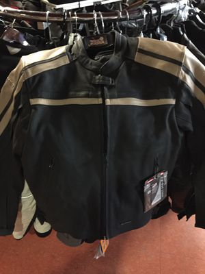 New black and brown leather motorcycle jacket $150 for Sale in Whittier, CA