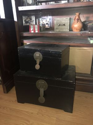 2 wood vintage boxes for Sale in Rancho Cucamonga, CA