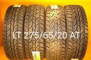 4 New tires LT 275/65/20 AT llantas nuevas for Sale in Chula Vista, CA