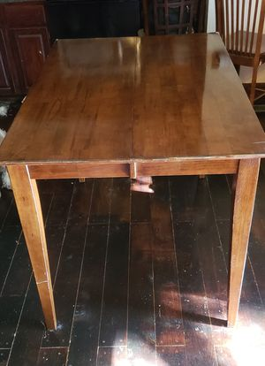 Hard wood kitchen table with a custom stainless steal cover for Sale in Clayton, IN