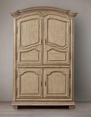 Restoration Hardware Gustavian Oak Armoire for Sale in Washington, DC