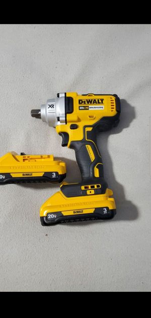 Dewalt 20V Max XR Brushless 1/2in Impact Wrench. With 2 new 3ah batteries. for Sale in Plainfield, IN