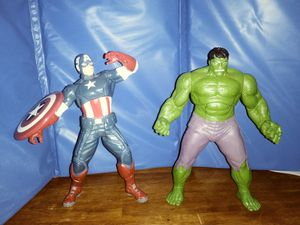 Avengers Talking Hulk & Captain America Figures for Sale in Biloxi, MS