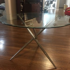 Modern Glass Round Breakfast Table for Sale in Jersey City, NJ