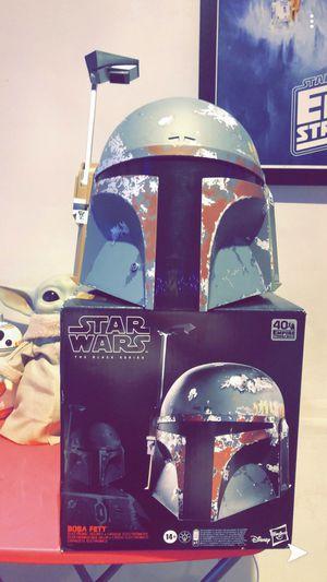 Star Wars Life size Boba Fett The Black Series Helmet Disney Hasbro for Sale in Woodbridge, VA