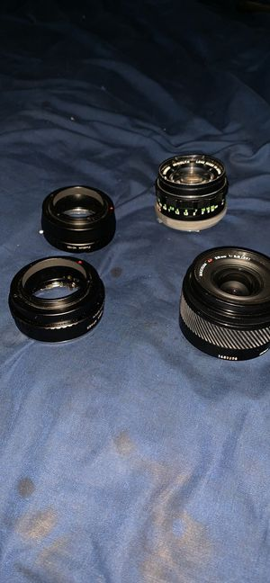 2 Sony E Adapter for Minolta Lens • 2 Minolta Lens 55mm|28mm for Sale for sale  Bronx, NY