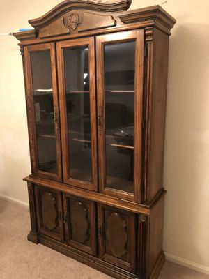 Vintage antique showcase cabinet for Sale in Annandale, VA
