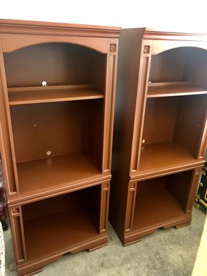 Brown bookshelves (4 extra shelves not pictured) for Sale in Las Vegas, NV