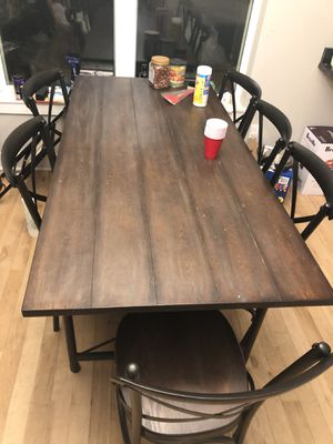 Solid wood Dining table with 6 chairs for Sale in Iowa City, IA