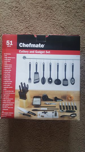 Chefmate 51-Piece Cutlery & Kitchen Gadget Starter Set (Including Knife Set) for Sale in Columbus, OH