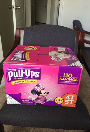 Huggies pull-ups training pants for girls brand new unopened 102 4T 5T. 38-50 lbs for $25 for Sale in Haines City, FL
