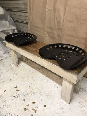 New wood bench with tractor seats for Sale in Pulaski, TN