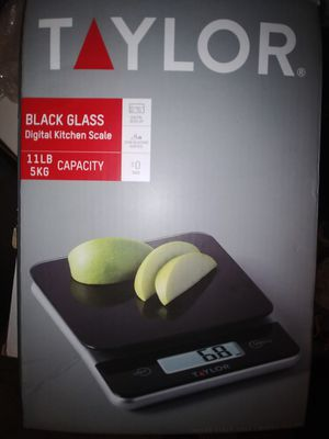 Brand New/Never Opened Taylor black glass Digital kitchen scale for Sale in Las Vegas, NV