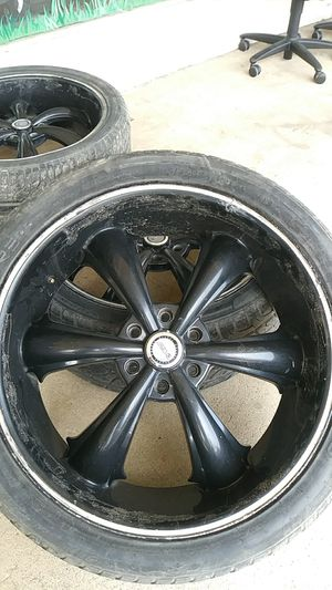 D centi 24 in black wheels (4) fits 6×139 silverado, suburban for Sale in Richland Hills, TX