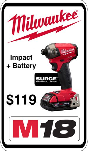 BRAND NEW - Milwaukee 2760-20 M18 Fuel Surge Impact - Includes NEW Battery - We accept trades & Credit Cards - AzBE Deals for Sale in Peoria, AZ