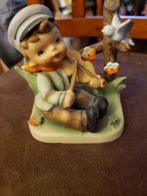 Little boy playing fiddle with little blue bird for Sale in Stow, OH