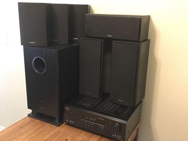 Onkyo Ht-r520 6.1 Channel 1000 Watt AV Receiver and Speakers