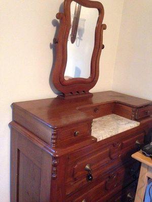 Antique walnut dresser for Sale in Dunbar, PA