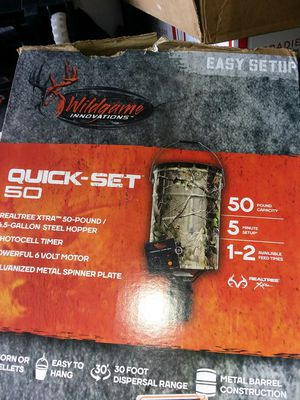 Wildgameinnovations tm6.5 gallon steel hopper for Sale in Clermont, FL