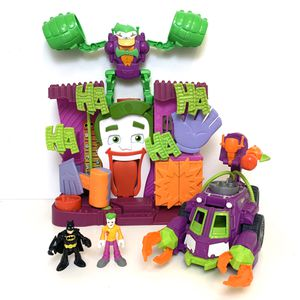 Fisher Price Imaginext Joker Lot! Includes Joker and Batman figures! Jokers Ha Ha Playset - Sounds, and Actions Work! Jokers Vehicle WITH Weapons! A for Sale in Elizabethtown, PA