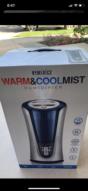 Homedics warm and cool mist humidifier for Sale in San Diego, CA