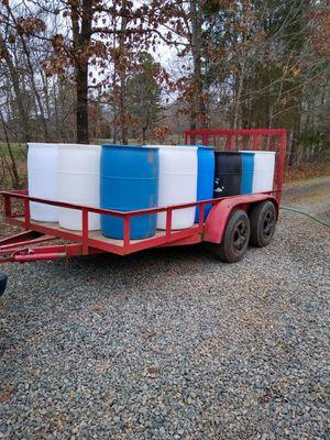 Plastic 55 gallon barrels $4.00 for Sale in Trinity, NC