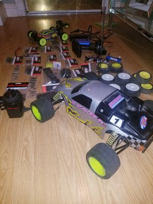 RC Truck And Buggy complete with brushless motors and Lipo batteries with bunch of brand new spare parts! for Sale in Modesto, CA