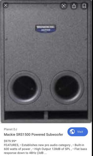 Mackie SRS 1500 600watt powered subwoofer for Sale in Southampton Township, NJ