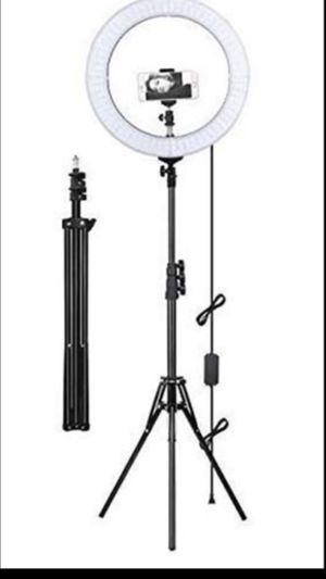 """10"""" ring light with 6ft tripod stand $20 for Sale in Baldwin Park, CA"""
