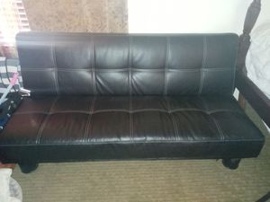 Leather futon great condition for Sale in Moreno Valley, CA
