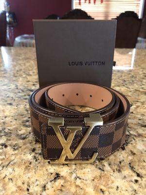 Louis Vuitton Brown and Gold Designer Belt for Sale in Glen Burnie, MD