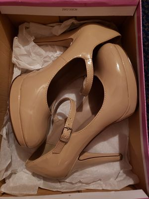 Dark beige heels for Sale in Ontario, CA