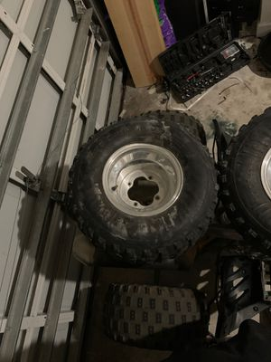Tech4 STI Wheels and Tires, Good Tread, No wobble on bent rim for Sale in FL, US
