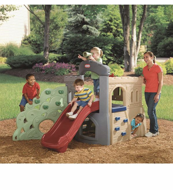 Gym slide rock climber The Little Tikes Rock Climber & Slide has both adventure and versatility to bring the perfect for any fun play time