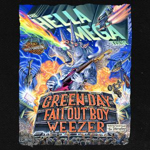 2 Tickets Hella Mega Tour! Green Day, Weezer, Fall Out Boy! Philadelphia Pa for Sale in Cherry Hill, NJ
