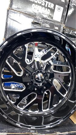 G fuel 20x10 6x135 6x139 rims with tires full package for Sale in Warren,  MI