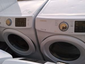 2019 almost like new never been used Samsung best washer and matching dryer set for Sale in Grand Prairie, TX