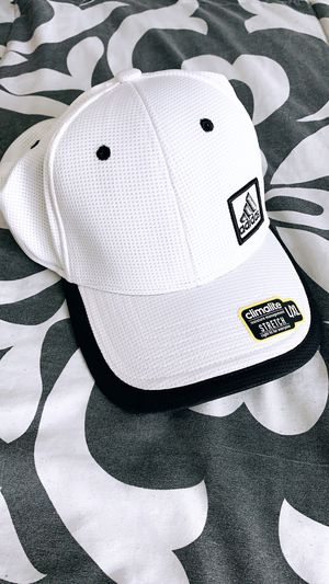 Brand New Adidas Hat All White Very rare Hand Stitched Raised Logo for Sale in Los Angeles, CA