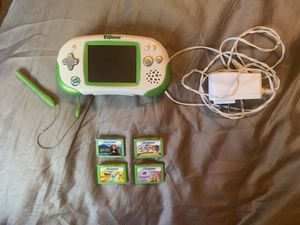 Leapster explorer with 4 games for Sale in Pembroke Pines, FL