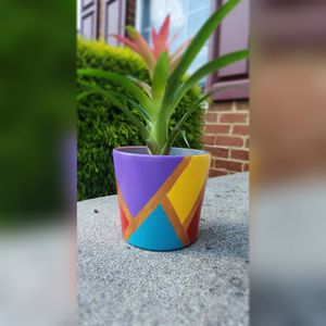 4in colorful terracotta pot for Sale in Brandywine, MD