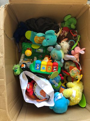 Box of baby toys for Sale in Clearwater, FL